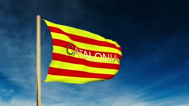 Katalónia lobogó szerinti stílusa a címben. Integetett a szél felhős háttér animáció