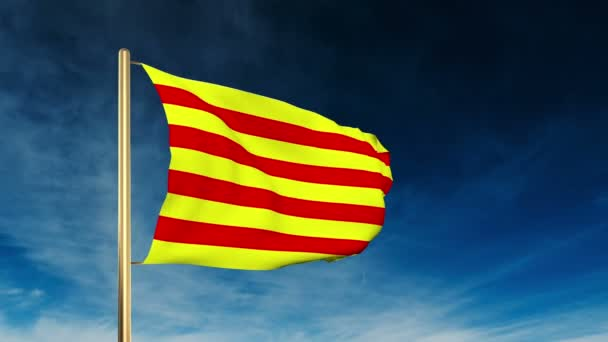 Katalónia lobogó szerinti csúszka stílusa. Integetett a győzelem a felhő háttér animáció