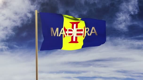 Madeira zászló címmel integetett a szél. Looping v. emelkedik stílus. Animáció-hurok