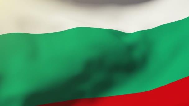 Bulgaria flag waving in the wind. Looping sun rises style.  Animation loop