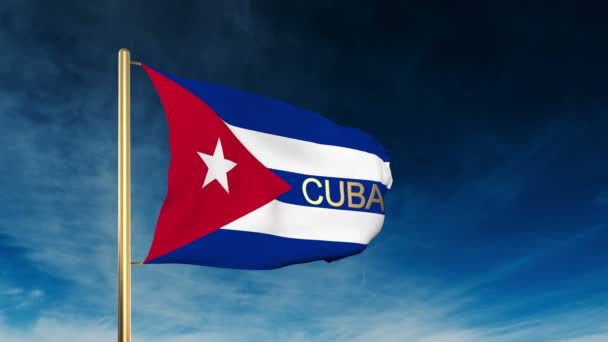 Styl jezdce na Kubě s nadpisem Mávání větrem s animací pozadí mraků