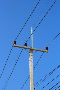 Electric Concrete poles.