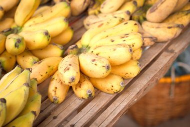 Bunch of  bananas fruit in Thailand market for sale.