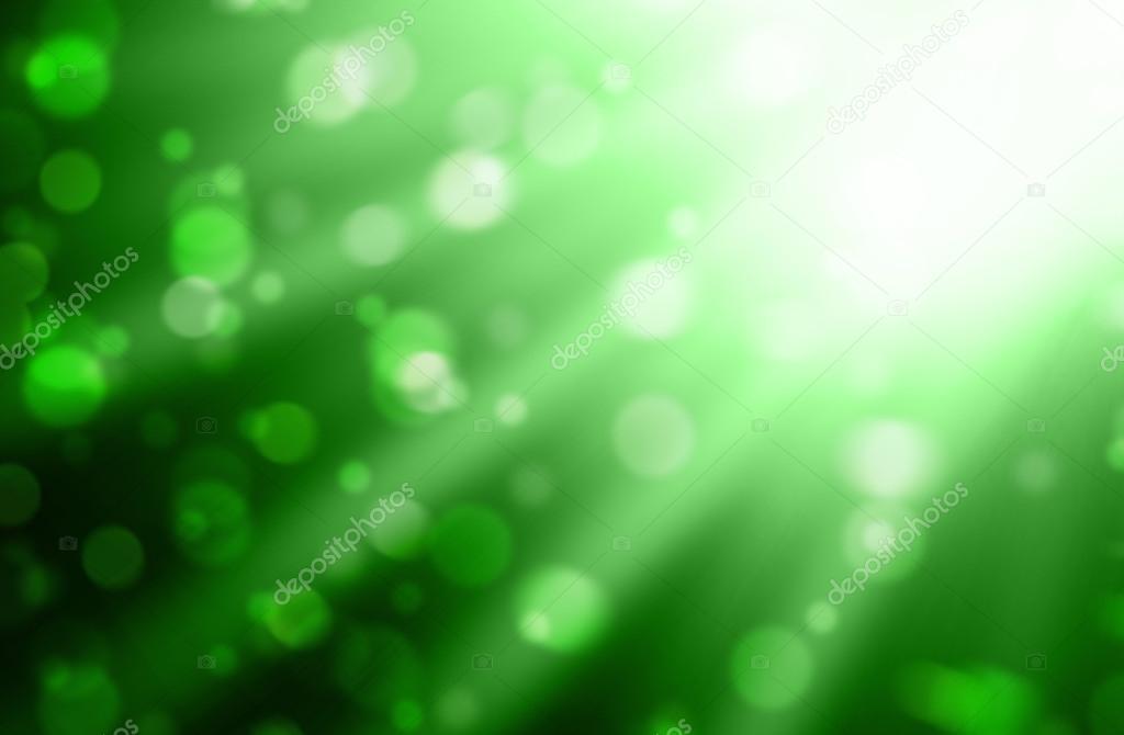 Luces Borrosas Sobre Fondo Verde