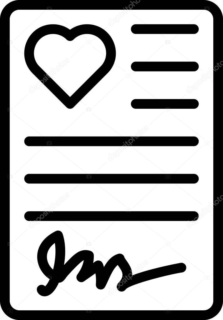 Tablet with document line vector icon icon
