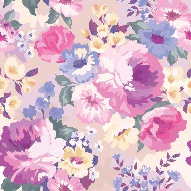 Beautiful seamless floral pattern.