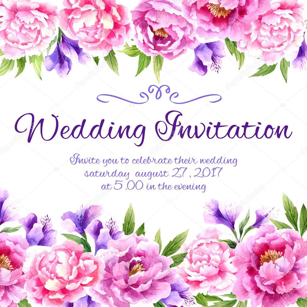 Padr 227 O De Floral Moldura De Convite De Casamento Vetor