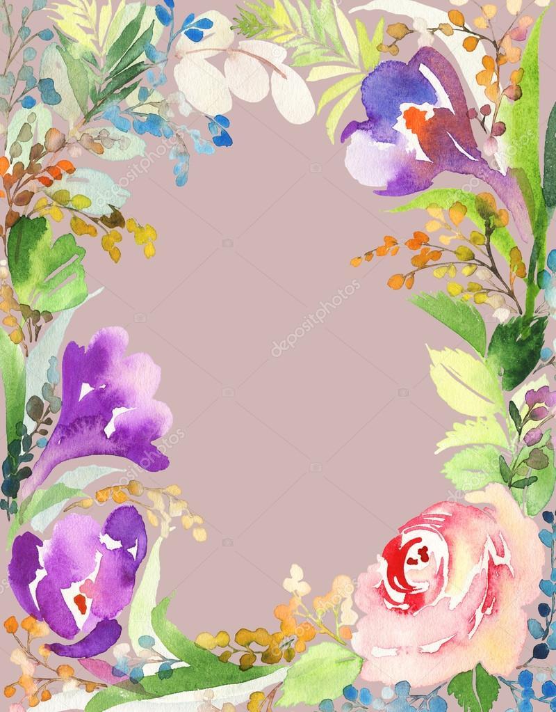 Greeting card with flowers stock photo karma15381 103940840 greeting card with flowers stock photo izmirmasajfo