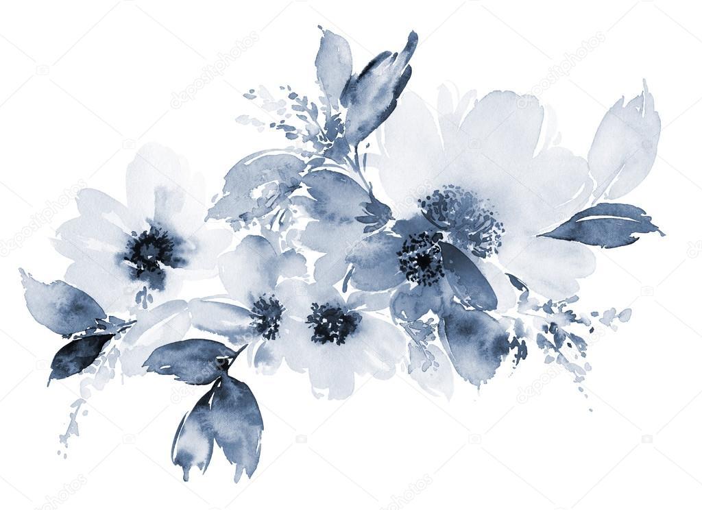 Blumen Aquarell Abbildung — Stockfoto © Karma15381 #106792452