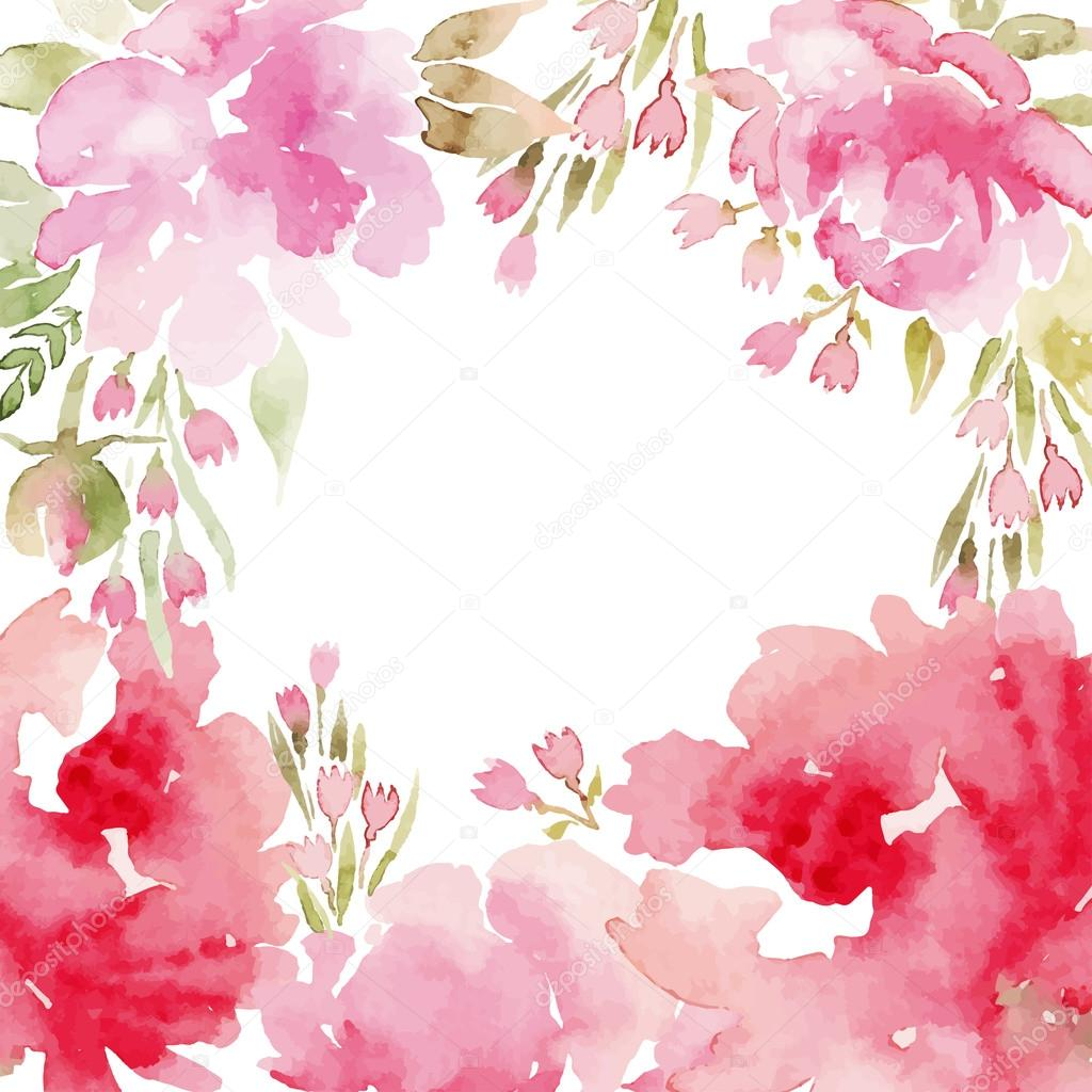 Peonies watercolor.