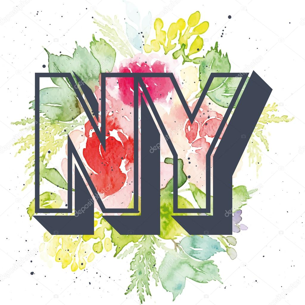 Print for T-shirt. Pattern. NY