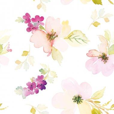 """Картина, постер, плакат, фотообои """"акварель цветы орхидеи подсолнухи сакура"""", артикул 77764890"""