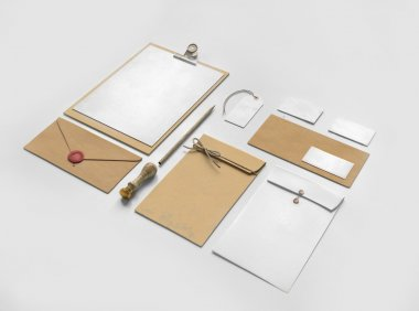 Set of paper Branding elements