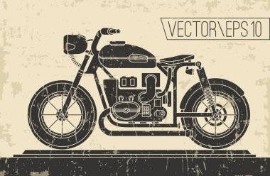 Poster with vintage Motorcycle