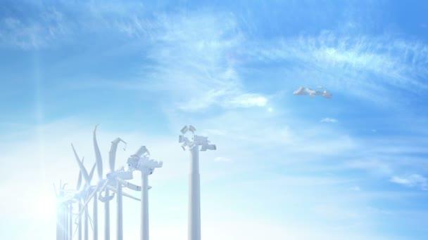 Bau von Windrädern zur Energiegewinnung