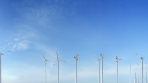 Vyrostou budování větrné turbíny výrobu energie