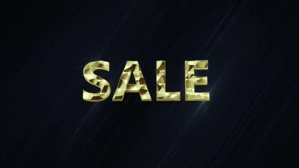 Verkauf Schleife elegant Gold einzigen Wort Text Titel auf abstrakte Mode modernen schwarz-blauen Hintergrund mit Farbmaske enthalten. Ideal für den Bildschirm im Geschäft.