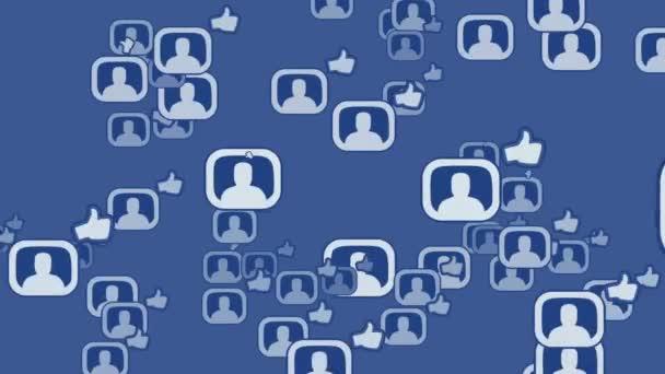 Social-Network-Loop-Media-Konzept facebook
