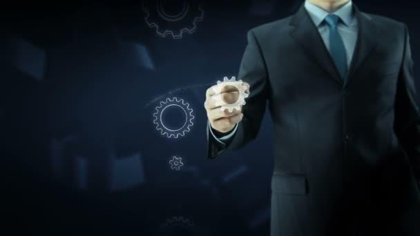 Obchodní úspěch člověka zařízení text koncepce práce týmu