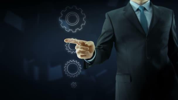 Obchodní úspěch člověka zařízení koncepce práce týmu červená