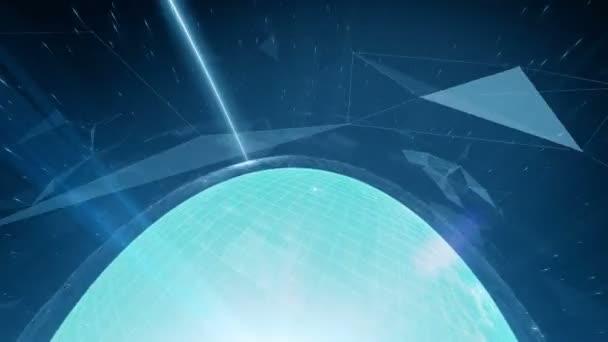 Animované globální digitální sociální sítě a internetové koncepce v prostoru