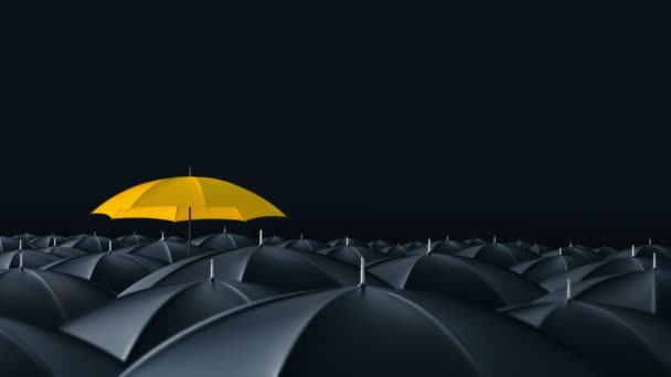 Esernyő állt ki a tömeg tömeg koncepció