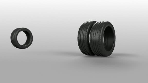 Pneumatiky pneumatiky izolované na bílém animovaný současné dárek s maskou