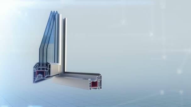 Plastový profil snížit animace roste do úplné okno bílé