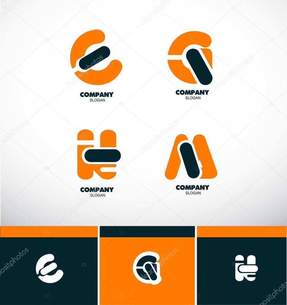 Letter logo icon set alphabet — Stock Vector © dragomirescu