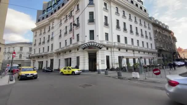 Bucharest, Romania - September 21, 2021 - 4k travel video of wonderful Bucharest city in Romania