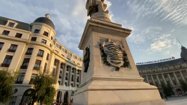 Bucharest, Romania - September 21, 2021 - Travel video of wonderful Bucharest city in Romania in 4k