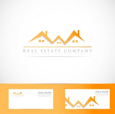 Real estate house roof logo