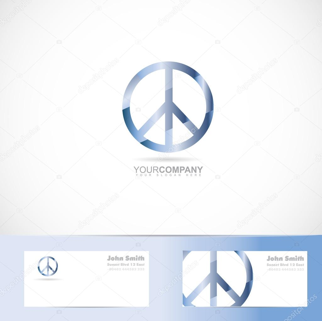 Peace Flower Power Sign Symbol Logo Stock Vector Dragomirescu