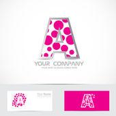 Dopis růžová bublina logo