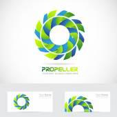 Propeller logo flower