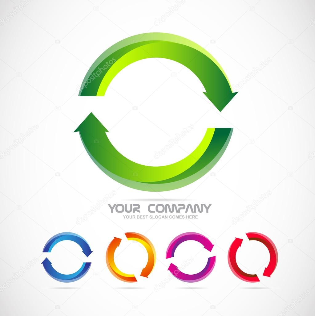 circle arrow logo recycle ストックベクター dragomirescu 76232255