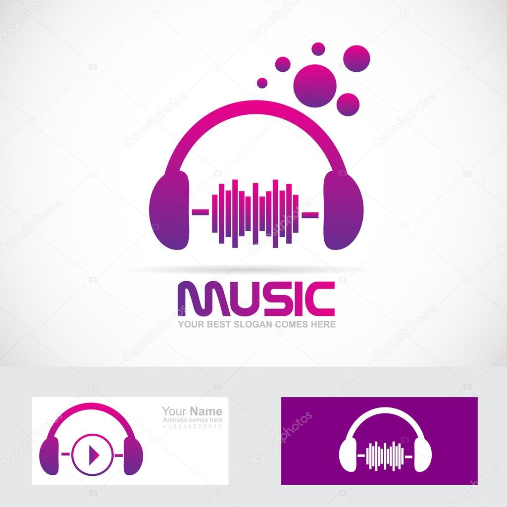 Music volume headset logo