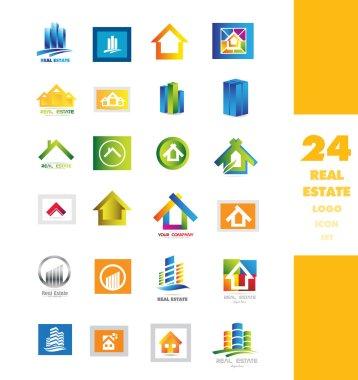 Real estate logo icon set