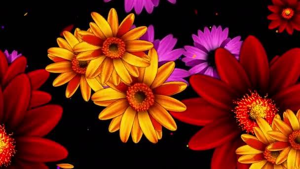 Színes virágok nőnek
