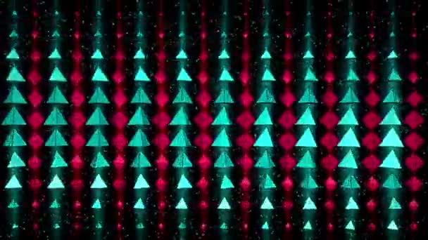 Rotating colorful pyramids