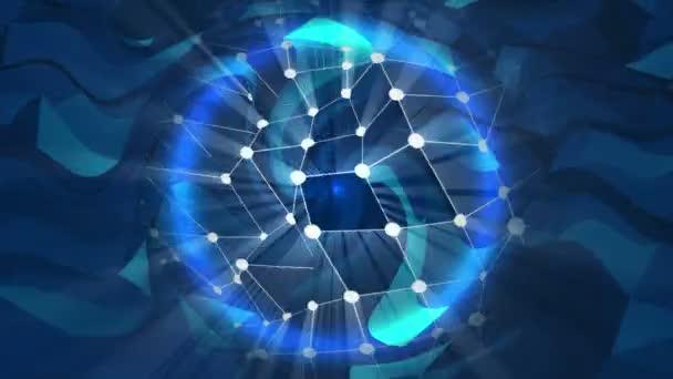 Modrá energie abstrakt s kulové plazma