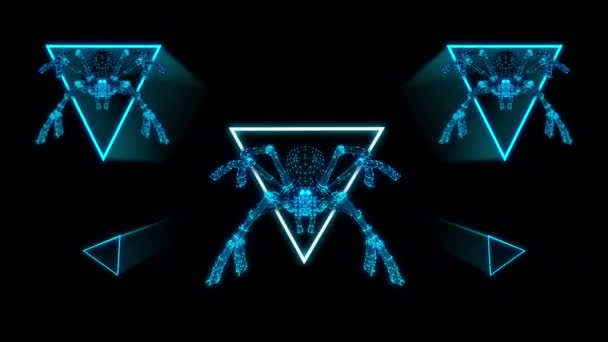 Legrační pavouci plazení v trojúhelníky