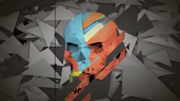 Abstract Polygon Skull background