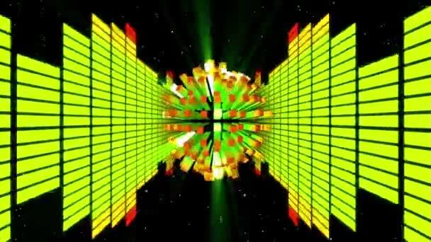 Equalizzatore di Neon astratto