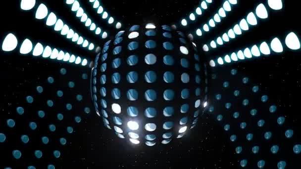 Sfondo spazio spirale LED