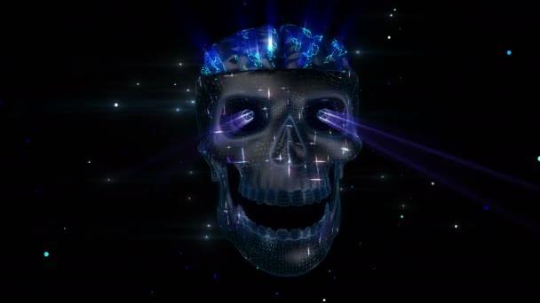 villám színes koponya
