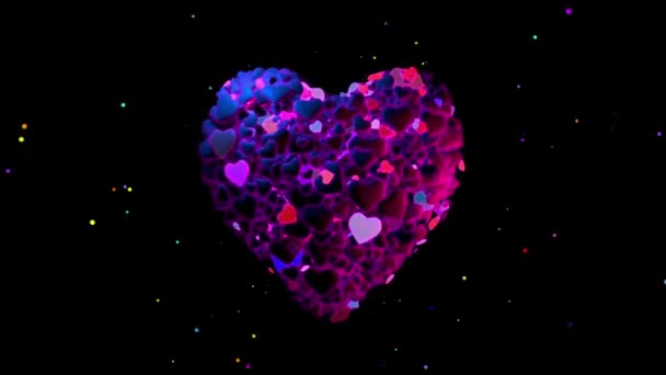 Bíbor szív készült villogó szív