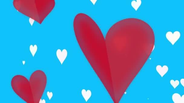 animierte bunte Herzen
