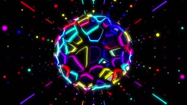 mozgó színes disco labdát
