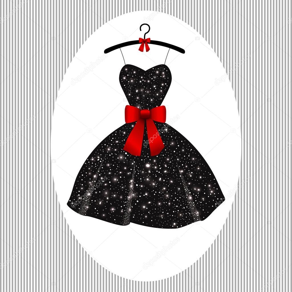 Little evening dress black on hangers